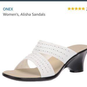 Onex Alisha-134 White Women's Sandals